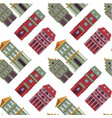 real estate houses seamless pattern buildings of vector image
