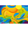 Rio 2016 abstract colorful background vector image vector image