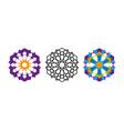 set arabic decorative pattern islamic logo symbol vector image