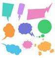 set retro comic empty colored speech bubbles vector image vector image