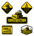 set under construction emblems labels vector image vector image