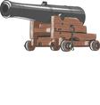 ship gun vector image vector image