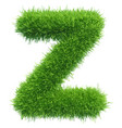 Small grass letter z on white background