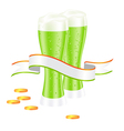 st patricks day beer vector image