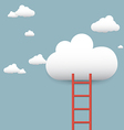 stairs leading to the clouds vector image vector image