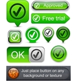 Tick high-detailed modern buttons vector | Price: 1 Credit (USD $1)