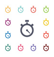 timer flat icons set vector image vector image