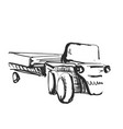 tractor on white background free hand drawn vector image vector image
