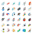 web operation icons set isometric style vector image vector image