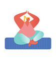 woman meditating sitting in lotus posture with vector image vector image