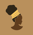 young beauty african girl face in profile vector image vector image
