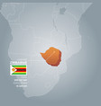 zimbabwe information map vector image