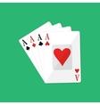 Four aces Gambling entertainment vector image