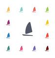 sail boat flat icons set vector image