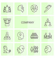 14 company icons vector image vector image
