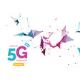5g wifi wireless technology connection vector image