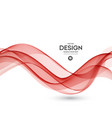 abstract background red wavy vector image