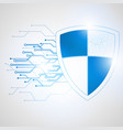 abstract protection concept digital vector image