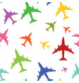 airplane color texture vector image vector image