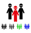 alien group flat icon vector image vector image