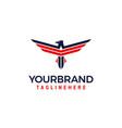 america eagle logo vector image