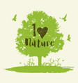 background with tree and birds vector image vector image