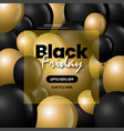 black and golden black friday sale background vector image
