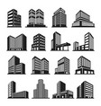 buildings icon in perspective cityscape vector image