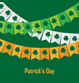 bunting with clover on vector image