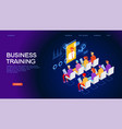 business training web banner vector image vector image