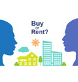 buy or rent vector image