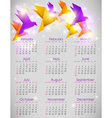 calendar origami vector image