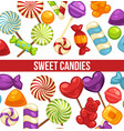 candies sweets and confectionery comfits caramel vector image vector image