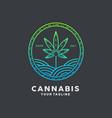 cannabis logo design inspiration idea concept vector image vector image