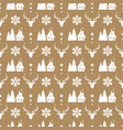 christmas seamless pattern with deer snowflake vector image