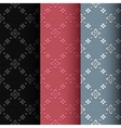 Collection of 3 vintage seamless classic pattern vector image