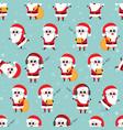 cute funny santa claus seamless pattern vector image