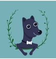 Cute Male Dog Portrait vector image vector image
