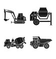 design of build and construction icon set vector image