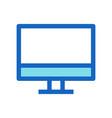 desktop business filled line icon blue color vector image vector image