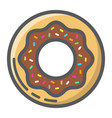 donut filled outline icon food and drink sweet vector image