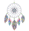 dreamcatcher on white background vector image vector image
