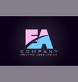 ea alphabet letter join joined letter logo design vector image vector image