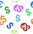 Euro and Dollar Currency Flat Seamless vector image vector image