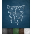 festive confetti icon vector image vector image