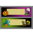 halloween blank space web banners set vector image vector image