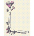Hand drawn cute floral frame vector image