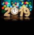happy new year holiday background with 2019 a vector image vector image