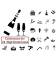 icon set celebration vector image