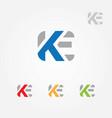 ke letter logo template vector image vector image